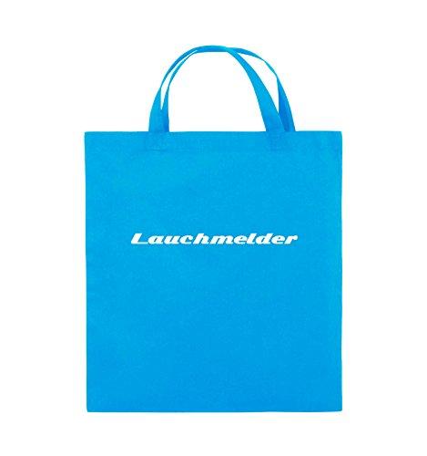 Comedy Bags - Lauchmelder - Jutebeutel - kurze Henkel - 38x42cm - Farbe: Schwarz / Silber Hellblau / Weiss