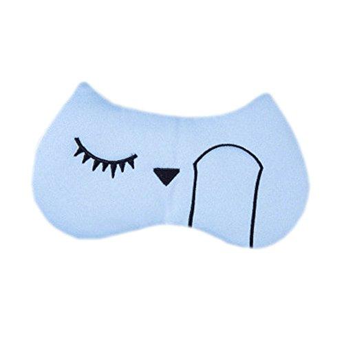 Schlafmaske Schlafenaugen-Abdeckung Super-Smooth Augenmaske für Reise, Blue Lake