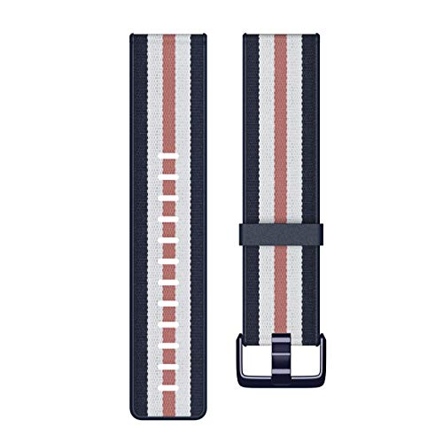 Fitbit Versa Lite Gewebe-Hybrid-Armbänder, Marineblau/Rosa, K -