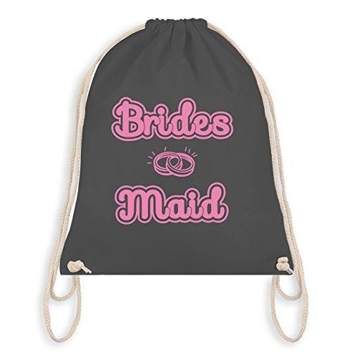 JGA Junggesellinnenabschied - Bridesmaid Eheringe - Turnbeutel I Gym Bag Dunkelgrau