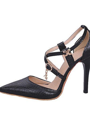 LFNLYX Scarpe Donna-Sandali-Serata e festa / Formale / Casual-Tacchi / Cinturino alla caviglia / A punta-A stiletto-Materiali personalizzati / Black