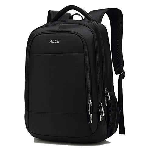 Zaino PC Portatili, ACDE Zaino per Laptop con Porta USB, Zaino per Computer Affari da 15.6 Pollici Portatile Notebook Nero