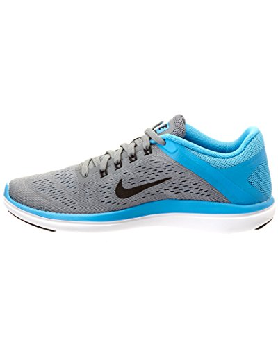 Nike Damen Flex 2016Rn Laufschuhe, UK COOL GREY/BLACK-BLUE GLOW-WHITE