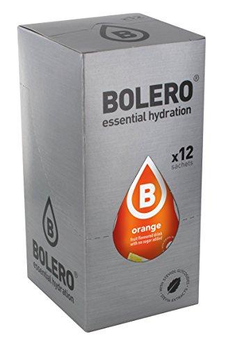 Bolero Bebida Instantánea sin Azúcar, Sabor Naranja - Paquete de 12 x 9 gr - Total: 108 gr