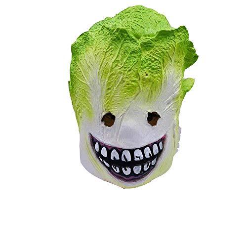 YEARYOWN Halloween Maske Latex Gemüse Head Cover Kohl Monster Maske Weihnachtsspiel Party Prom lustige Requisiten