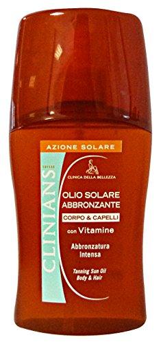 Clinians Huile Solaire abbronzante corps et cheveux - 150 gr