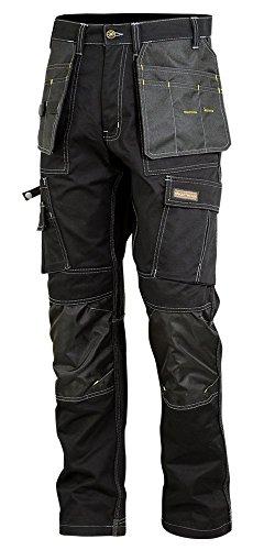Wright Wears Men Work Cargo Trouser Black Heavy Duty Multi Pockets /& Knee Pad Pockets Like Dewalt