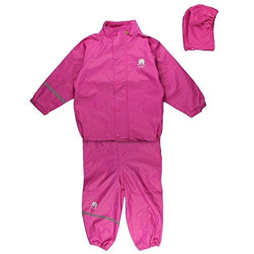 2c842e928a Celavi Kinder Mädchen Regen Anzug, Jacke und Latzhose mit Hosenträgern,  Alter 18-24