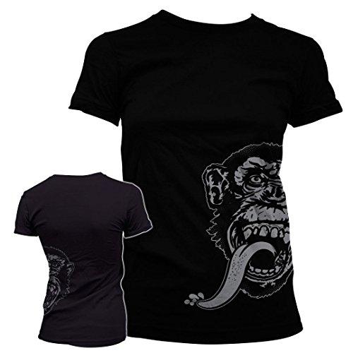 Officially Licensed Merchandise Gas Monkey Sidekick Girly Tee (Black), Medium