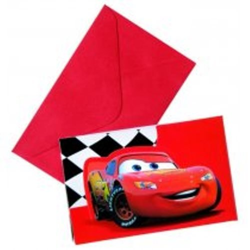 Procos Disney Cars Einladungskarten 6 STK