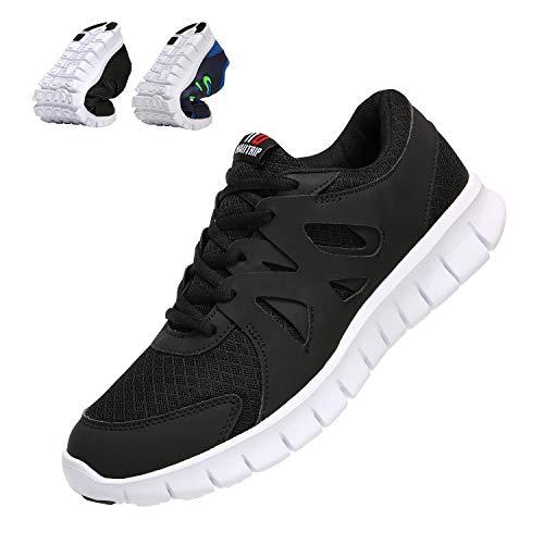 Sportschuhe Herren Casual Laufschuhe Leichte Gym Sneakers Fitness Turnschuhe männer Mesh Sport Schuhe Schwarz/weiß