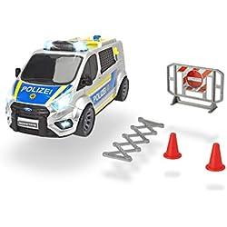 Dickie Toys 203715013 Ford Transit Police 203715013-Ford, Polizeiwagen mit Licht und Sound, Mehrfarbig