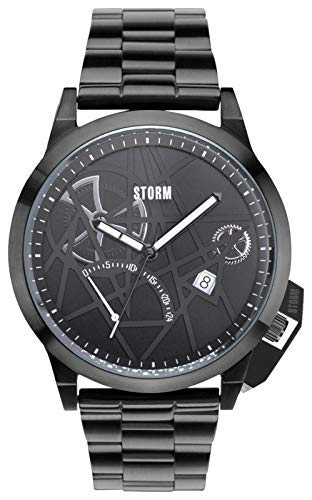 Storm Mens exlcusive All Black Stainless Steel Watch Model Number 47378/SL