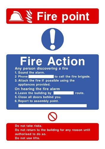 Fire Point Fire Action Zeichen Aufkleber Lustige Hinweise, Gefahr, Warnaufkleber für Propety Vinyl Hinweisschild, selbstklebend, 30 x 40 cm -