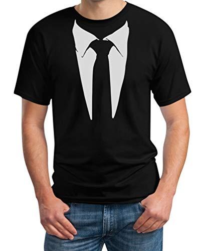 Krawatte Kostüm Und Anzug - Gedruckter Anzug/Legendäre Stinson Krawatte Barney - Tuxedo Kostüm Party Schwarz Large T-Shirt