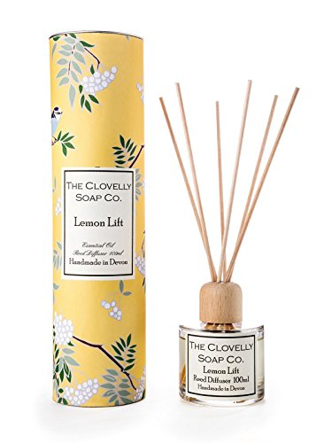 Clovelly Candle Co Lemon Lift Reed Diffuser Handmade with Pure Essential Oils 100ml