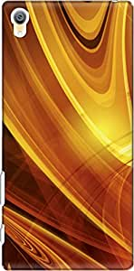 The Racoon Lean printed designer hard back mobile phone case cover for Sony Xperia Z5 Premium / Sony Xperia Z5 Premium Dual. (lava gold)