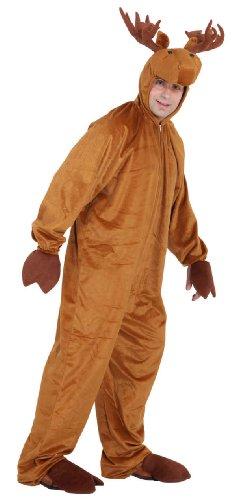 Rentier Kostüm Herren - Elch Overall Herren Kostüm als Rentier zu Karneval Fasching