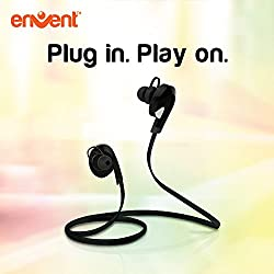 Envent LiveTune Bluetooth Earphone, in the ear technology with Mic with Great Bass - Black