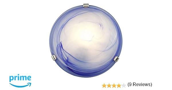 Plafoniere Vetro Blu : Brilliant plafoniera mauritius colore blu amazon