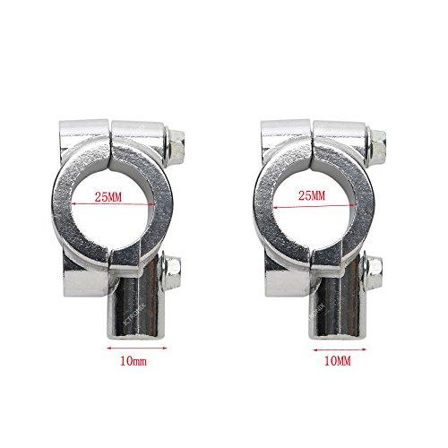 Preisvergleich Produktbild 2x Universal 25mm Motorrad Lenkerhalterung Lenkerhalter Befestigungs Klemmen