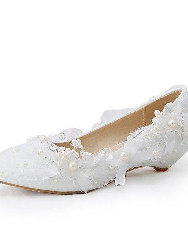WSS 2016 Chaussures de mariage-Blanc-Mariage / Habillé / Soirée & Evénement-Compensées-Talons-Homme under 1in-us8.5 / eu39 / uk6.5 / cn40