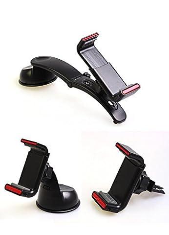 Ensemble combiné multifonction LDD-301 pour console de téléphone mobile multi-fonctions Support voiture noir / blanc à deux couleurs , black