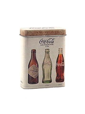 Etui Boîte à cigarettes en métal Coca Cola - Contenance 20 à 25 cigarettes - Beige
