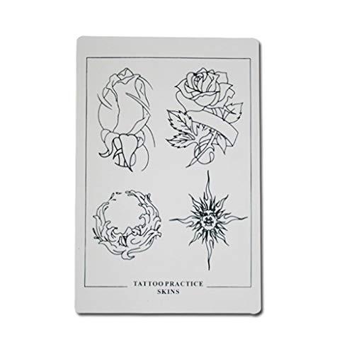 Tattoo-Stickerei-Praxis-Haut-Blumen-Muster 3 Blatt 30 * 20cm Muster-Tätowierungs-Künstler -