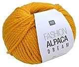 Rico Fashion Alpaca Dream, Fb. 012 – gelb, wirklich traumhaft weiche Mischung aus Merinowolle und Alpaka Wolle Nadelstärke 8 mm