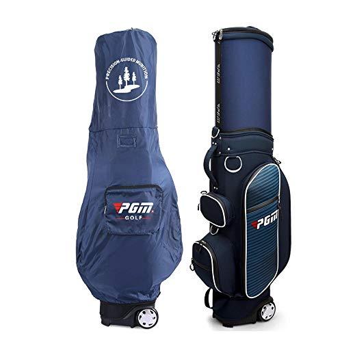 Mhwlai Golftasche, Golf Standard Bag air Carrier verpackung versenkbare Golf airbag wasserdicht/Zoll Block/schutzhülle,Blue