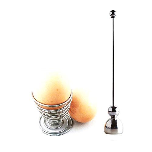 Kungix Eierköpfer, mit langlebiger Schraube aus Edelstahl, mit Eierbecher