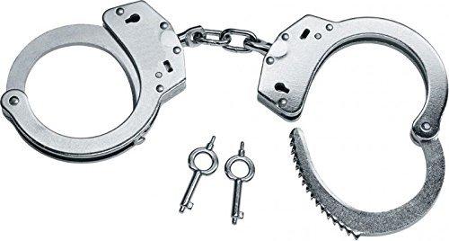 Preisvergleich Produktbild Hochwertige G8DS® Handschellen vernickelte Stahlhandfessel mit Kette mit Double-Lock Sicherung