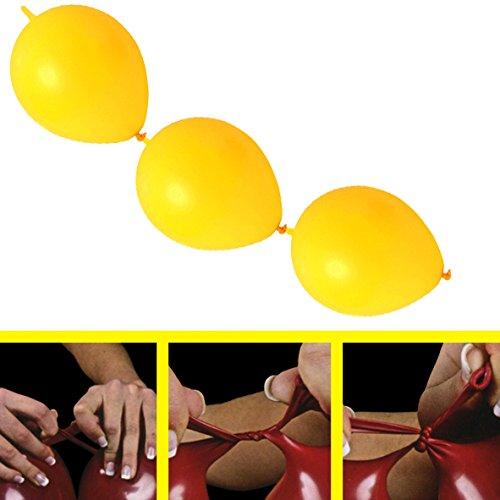 partydiscount24 50 x Girlandenballons Ø 30 cm | Freie Farbwahl | 19 Ballon Farben (Gelb)