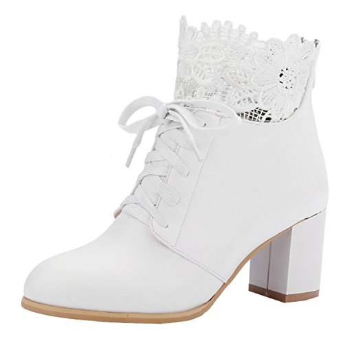 YE-Damen-Blockabsatz-High-Heel-Plateau-Schnren-Stiefeletten-mit-6CM-Absatz-Hinten-Reiverschluss-Herbst-Winter-Ankle-Boots-Schuhe