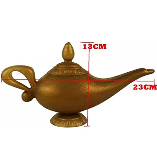Zantec Plastic Cosplay Magic Halloween Weihnachten Arabian für Aladdin Genie Lampe Fancy Dress Prop Home Dekorationen (Marokkanische Kostüme)