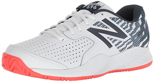 New Balance 696v3, Scarpe da Tennis Uomo, Bianco (White/Petrol E3), 42.5 EU