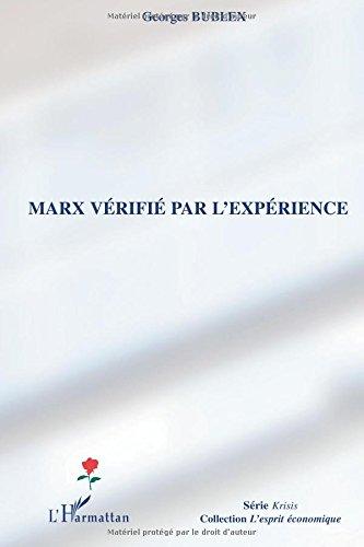 Marx vérifié par l'expérience