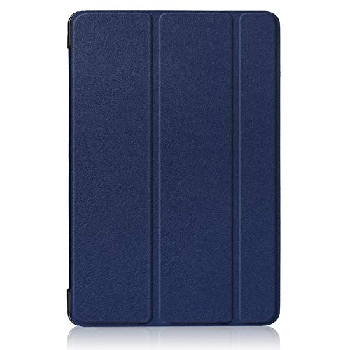 Xuanbeier Samsung Galaxy Tab S4 10.5 SM-T830/T835/T837 Hüllen Flip Slim Light Stand PU Leder Smart Cover für Samsung Galaxy Tab S4 10.5 2018 Tablet Dunkelblau (Slim Flip Samsung Case Galaxy S4)