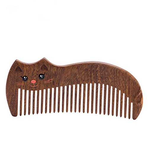 CHUANGHDF Kamm ® Holzkamm Geschenkbox Faule Katze Prinzessin Holzkamm süße Make-up Kamm senden Mädchen