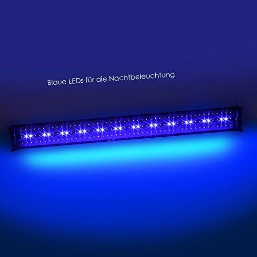 SIMBR Aquarium beleuchtung Lampe LED Aufsetzleuchte Schwarz (95-115cm) - 6