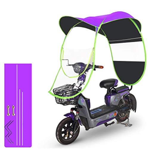 WANG Parasole Antipioggia per Protezione Solare Ombrello Moto, Ombrello Impermeabile Pieghevole Elettrico Universale per Biciclette,G