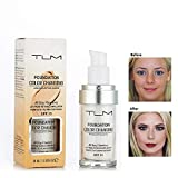 GARYOB Miracle Match Flawless Color Changing Foundation Natural Moisturizing Liquid Concealer Cover Shadows Skin Care– Flüssig Foundation mit Weichzeichner-Effekt – Passt sich jedem Hautton an