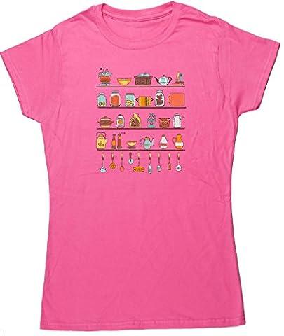Hippowarehouse - T-shirt - Femme - rose -