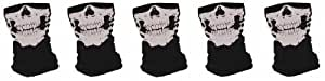 "Grossiste - Lot de 5 Tour de Cou Masque Cagoule ""Ghost Tete de mort"" - Style Call of Duty Ghosts Modern Warfare Cod Mw3 Black Ops Battlefield Xbox 360 One Ps3 Ps4 - Airsoft - Paintball - Moto - Ski - Snow - Surf - Outdoor"