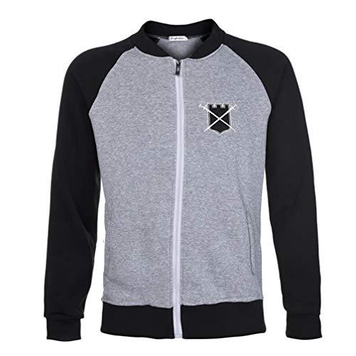 Herren Splicing Pullover Long Sleeve Hooded Sweatshirt Tops -