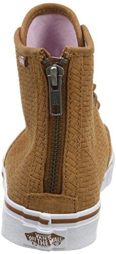 Vans Camden Hi Zip, Sneakers Hautes Femme Marron (Embossed Suede brown)
