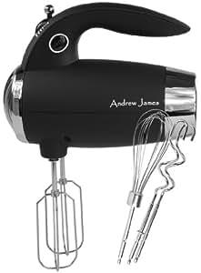 Andrew James Powerful 300 Watt Premium Black Soft Touch Hand Mixer
