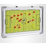 KMDL Pizarras Tablero de táctica de fútbol , Tablero de táctica de fútbol portátil montado en la Pared Guía de Entrenamiento Tablero de Doble Cara con Tablero de táctica de regrabación magnética
