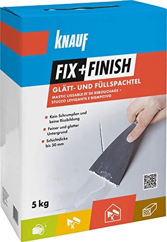 Knauf 593786 Fix+Finish Glätt- & Füllspachtel weiß 5 kg